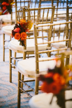 Boston wedding chair decorations Sonesta