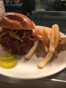 Hogs for Cause - pulled pork sandwich at Desire
