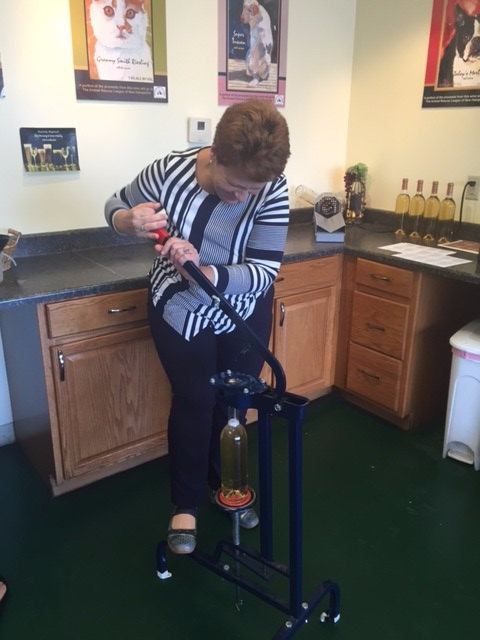 bottling wine